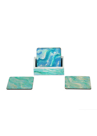 Hand-painted Flowing Essence Coaster Set