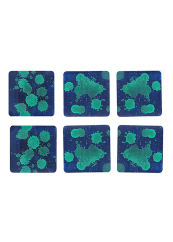 Hand-painted Color Droplets Coaster Set