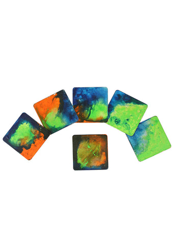 Hand-painted Igniting colors Coaster Set