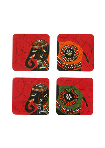 Hand-painted Regal Celebration Coaster Set