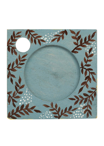 Hand-painted Flaura Mangowood Coasters set of 6 pcs