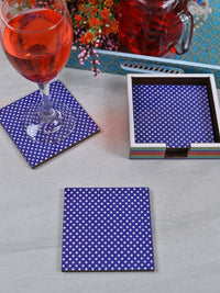 Handcrafted Love Of Colors Square Wooden Coasters Set Of 4