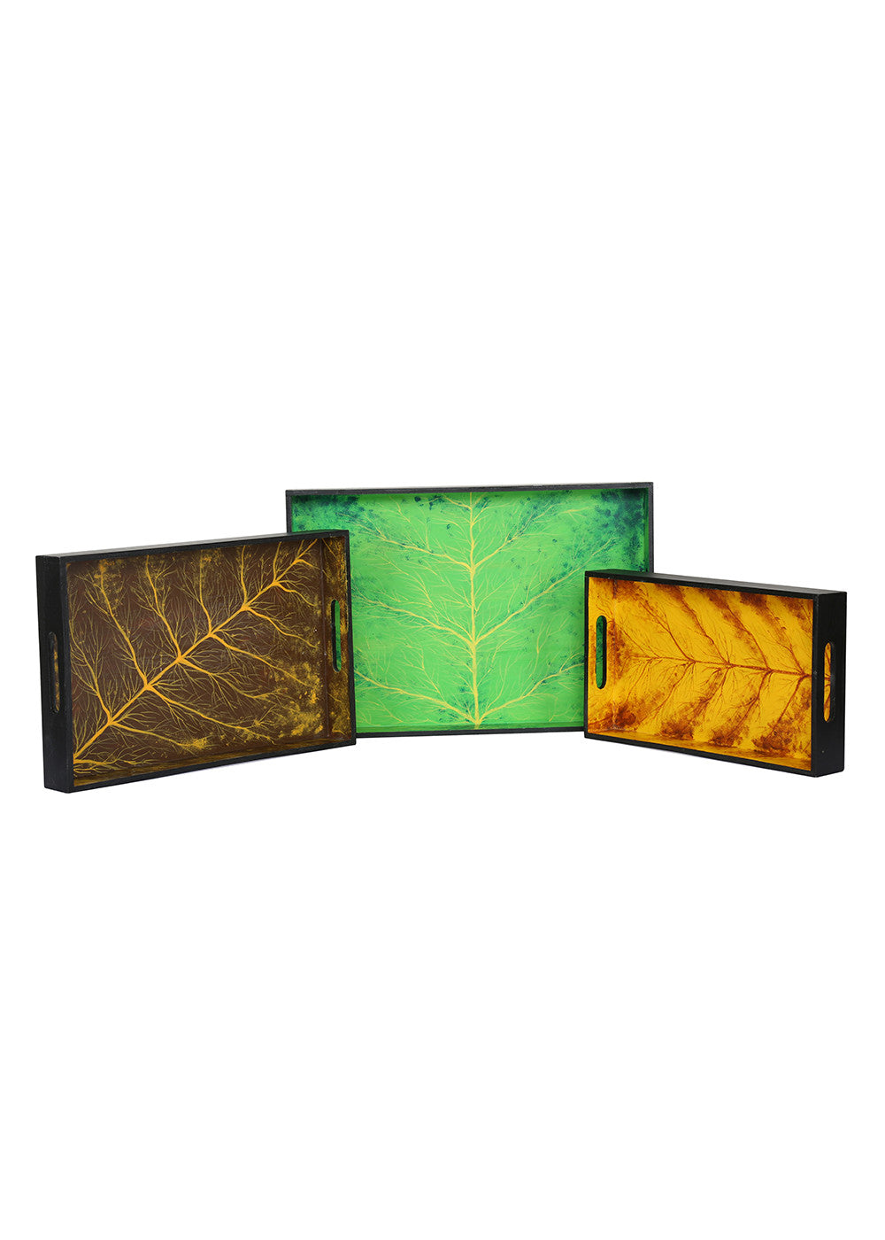 Hand-painted Serene World Trays (Set of 3) - RANGRAGE
