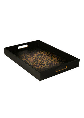 Hand-painted Rustic Steampunk Trays (Set of 3) - RANGRAGE