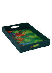 Hand-painted Bucolic Pots Trays (Set of 2) - RANGRAGE