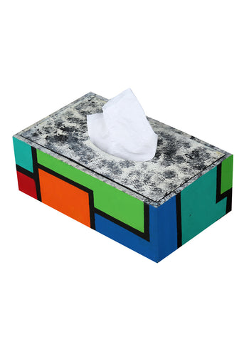 Hand-painted Colors of Compassion Tissue Box Holder