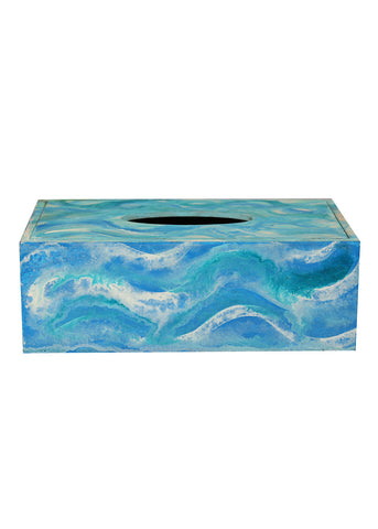 Hand-painted Flowing Essence Tissue Box Holder