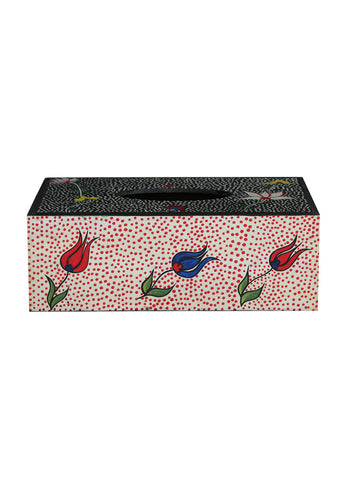 Hand-painted Royal Blossoms Tissue Box Holder