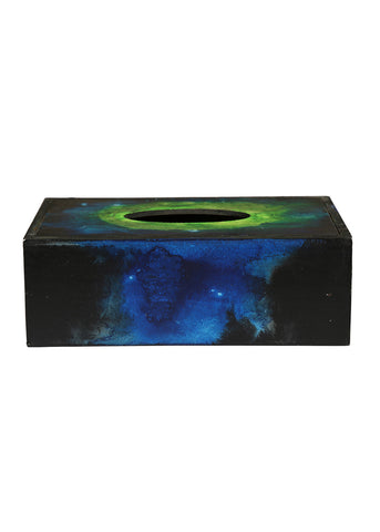 Hand-painted Igniting colors Tissue Box Holder