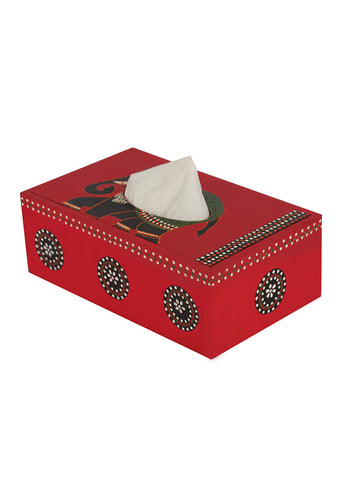 Hand-painted Regal Celebration Tissue Box Holder
