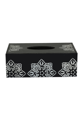 Hand-painted Greying Motif Tissue Box Holder