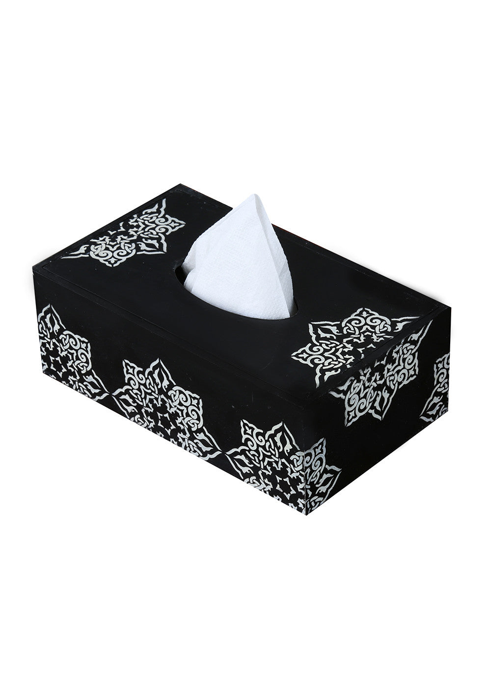Hand-painted Greying Motif Tissue Box Holder - RANGRAGE
