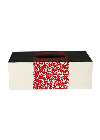 Hand-painted Mexican Mania Tissue Box Holder