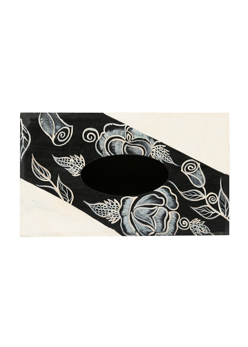 Hand-painted Classy Florets Tissue Box Holder - RANGRAGE
