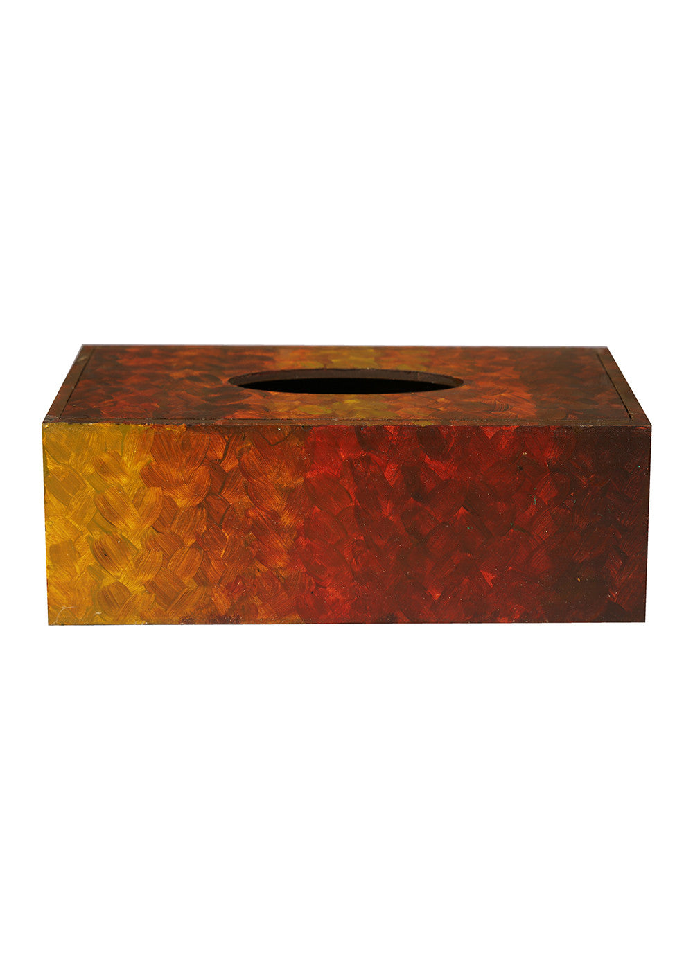 Hand-painted Sunkissed Earth Tissue Box Holder - RANGRAGE