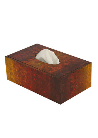 Hand-painted Sunkissed Earth Tissue Box Holder