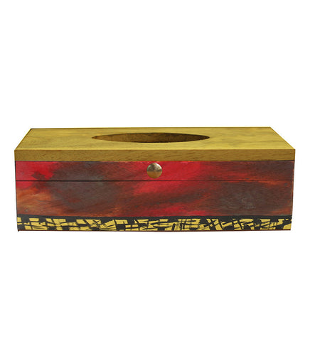 Handcrafted Tribal Magic Mangowood Tissue Box