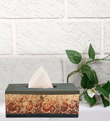 Handcrafted Grey Pearl Mangowood Tissue Box