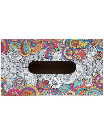 Handcrafted Paisley Tissue Box Holder