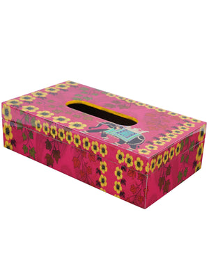 Handcrafted Regal Elephant Tissue Box Holder