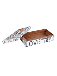 Classic  Designer Multicolor Handpainted Antique Wooden Tissue  Box