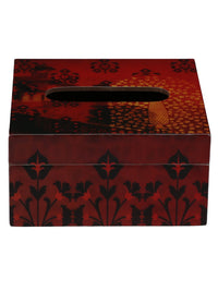 Handcrafted  Floral Mughal Wooden Tissue Holder Box