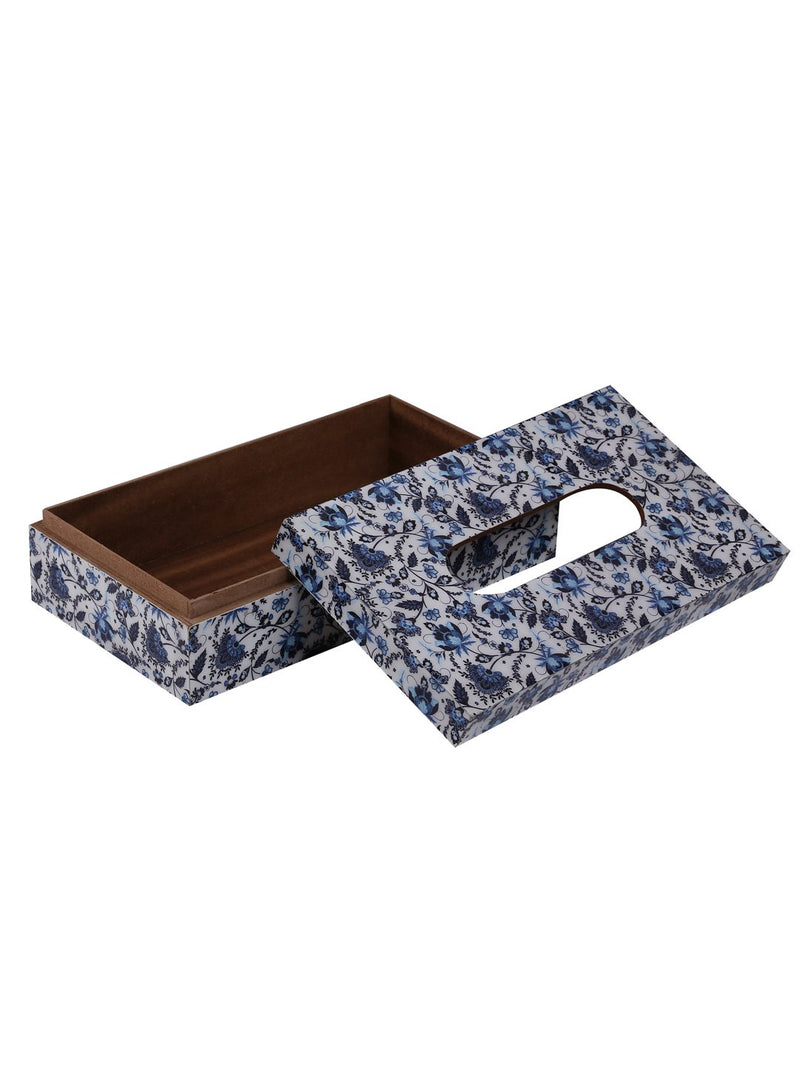 Handcrafted  Persian Floral Wooden Tissue Holder Box