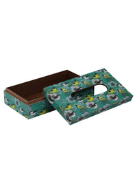Handcrafted Enchanting Birds Wooden Tissue Holder Box