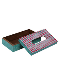 Handcrafted The Polka Love Wooden Tissue Holder Box