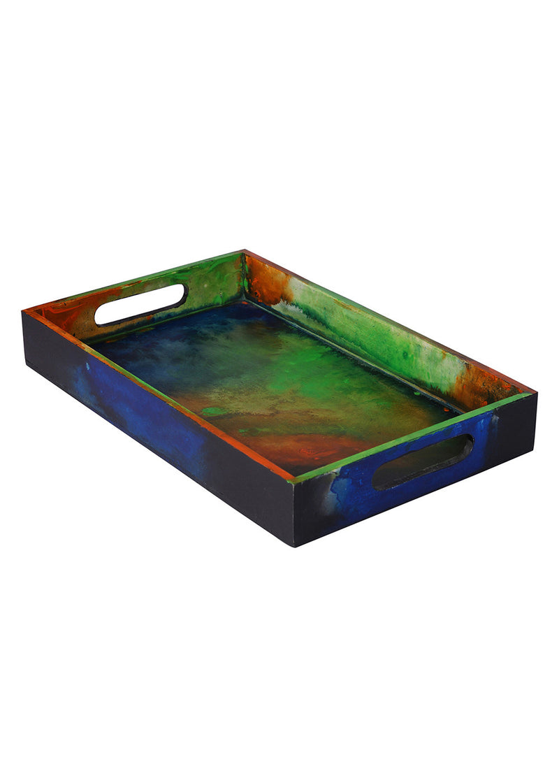 Hand-painted Igniting Colors Classy Tray - RANGRAGE