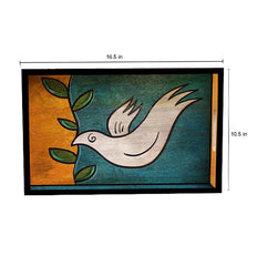 Handcrafted The Dove Mangowood Serving Tray