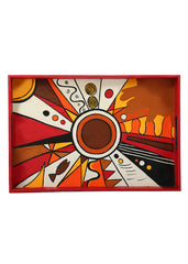 Hand-painted Abstract Universe Grand Tray - RANGRAGE