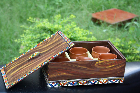 Handcrafted Madhubani Royal Kulhad Tray