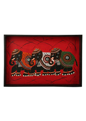 Hand-painted Regal Celebration Exotic Tray - RANGRAGE