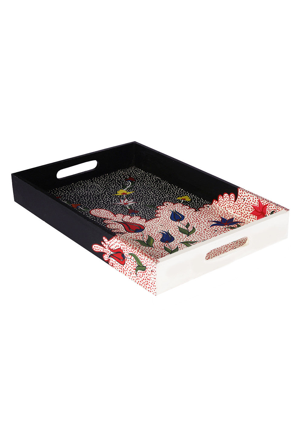 Hand-painted Royal Blossoms Exotic Tray - RANGRAGE