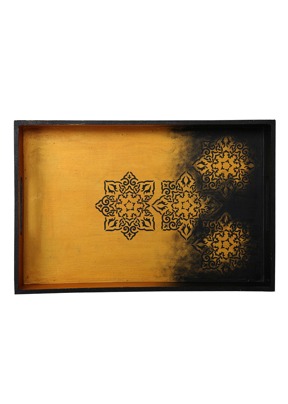 Hand-painted Classic Gold Mughal Exotic Tray - RANGRAGE