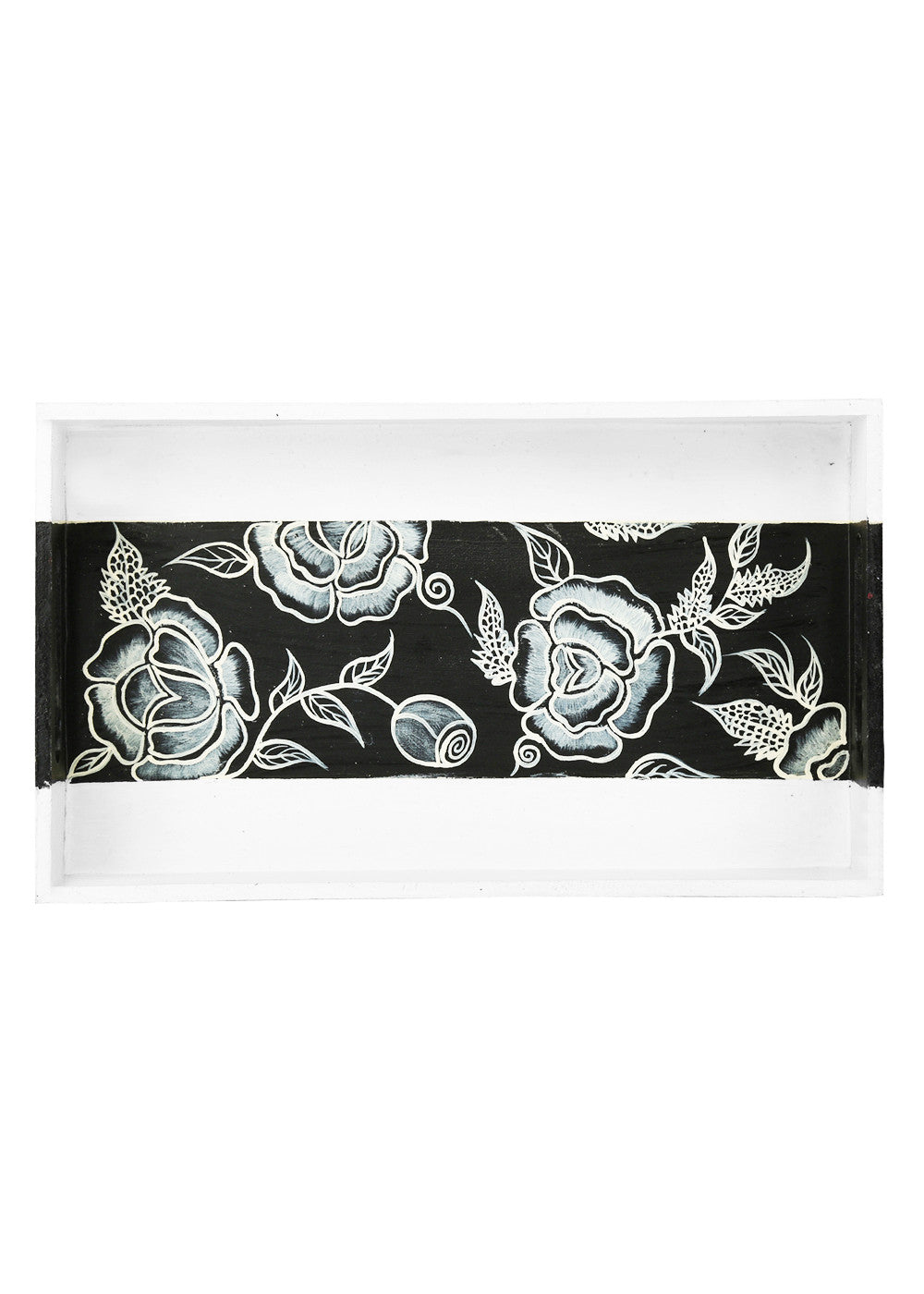 Hand-painted Florets Classy Tray - RANGRAGE