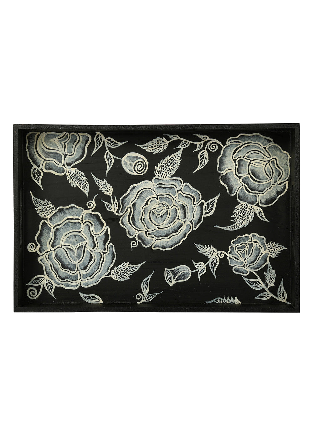 Hand-painted Classy Florets ExoticTray - RANGRAGE