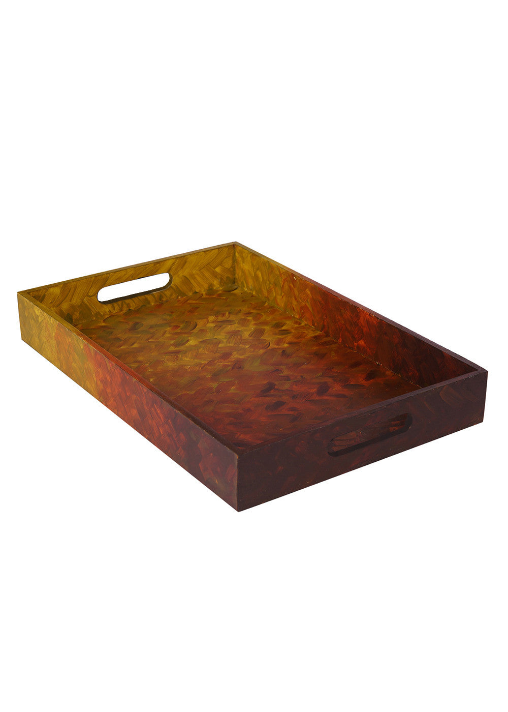 Hand-painted Sunkissed Earth Exotic Tray - RANGRAGE