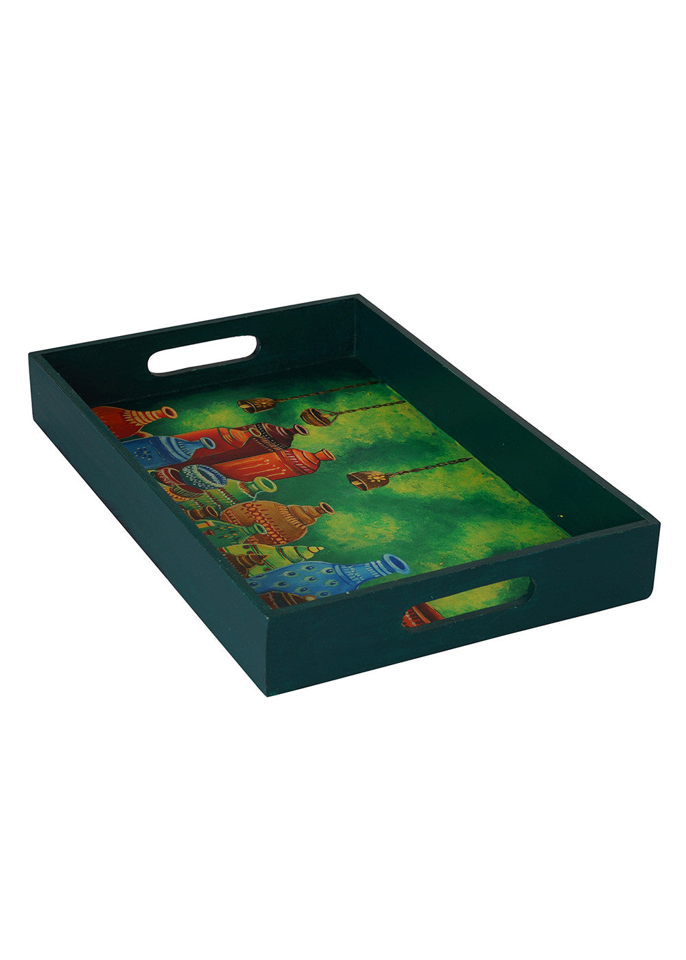 Hand-painted Bucolic Pots Exotic Tray - RANGRAGE