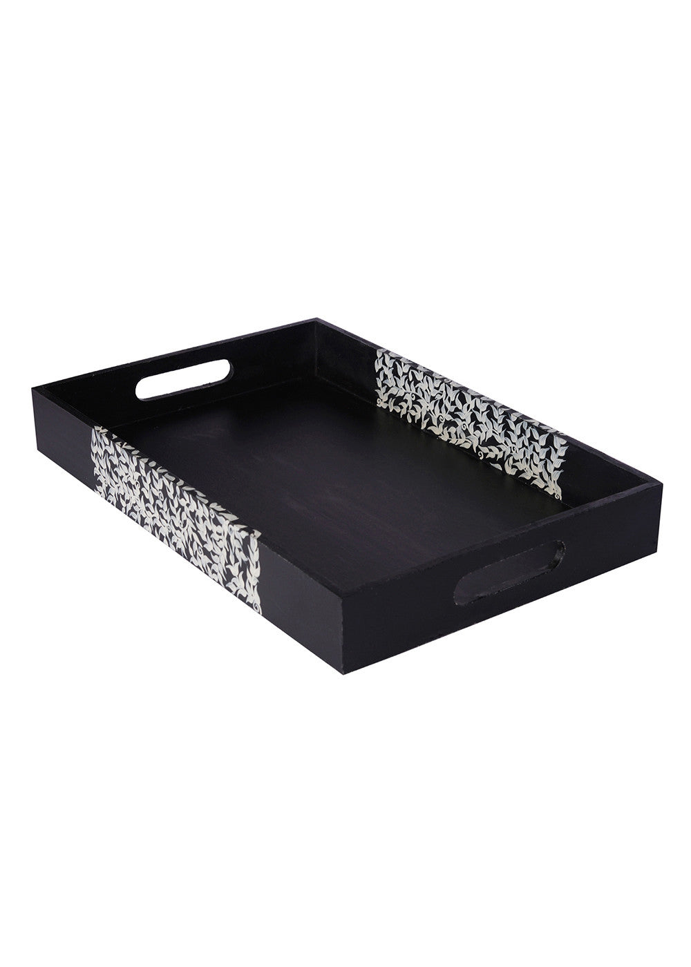 Hand-painted Black Beauty Exotic Tray - RANGRAGE