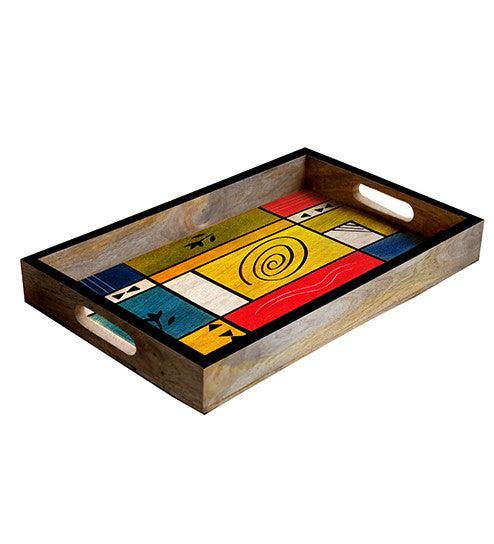 Handcrafted The Abstract Mangowood Serving Tray