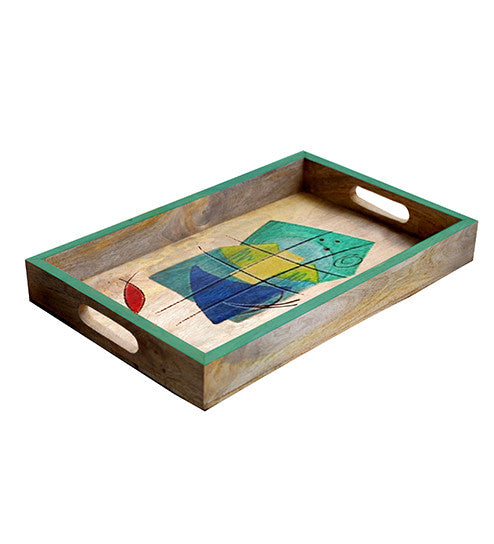 Handcrafted The Marine Mangowood Serving Tray