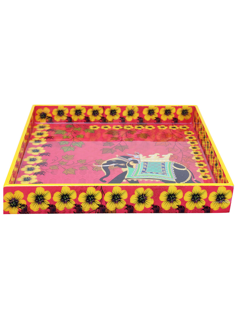 Handcrafted Regal Elephant Serving Tray