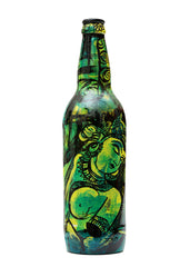 Hand-painted Green Ajanta Decorative Bottle - RANGRAGE