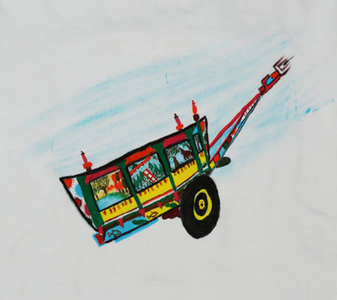 Hand-painted Colorful Cart T-shirt