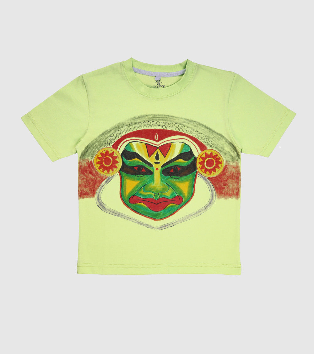 Hand-painted Kathakali T-shirt - RANGRAGE  - 1