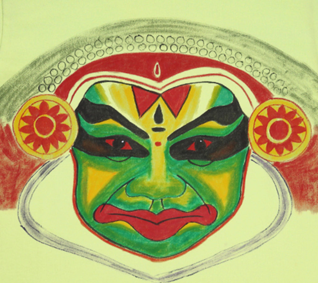 Hand-painted Kathakali T-shirt - RANGRAGE  - 2