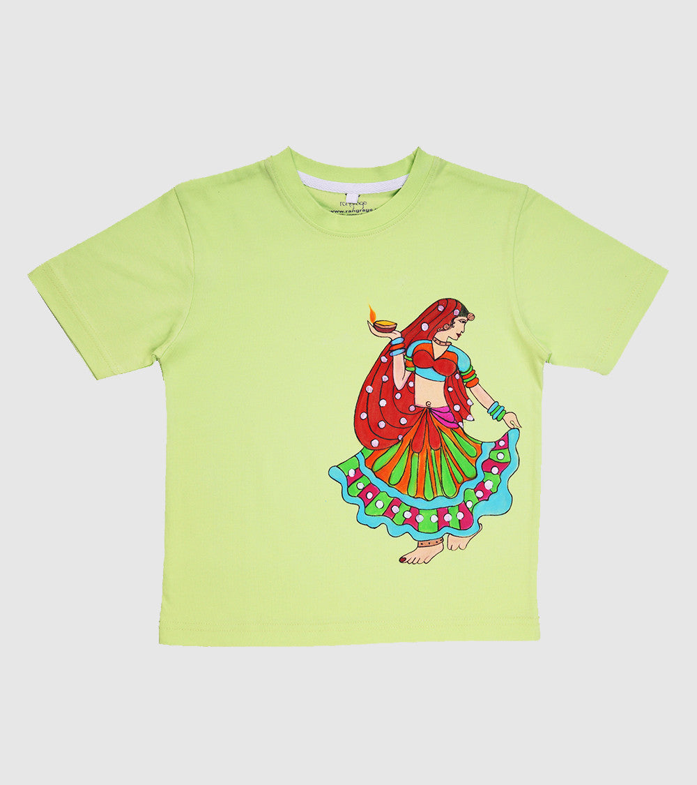 Hand-painted Dancing Diva  T-shirt - Rang Rage  - 1