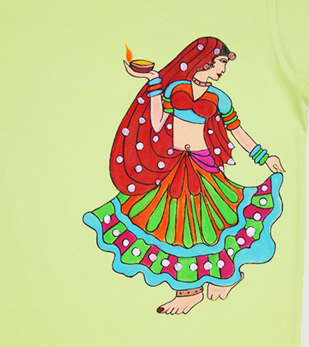 Hand-painted Dancing Diva  T-shirt - Rang Rage  - 2